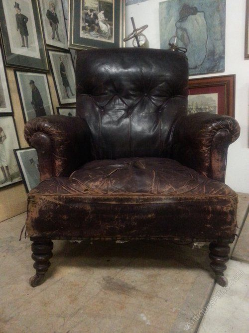 Victorian Leather Chesterfield Armchair Www Castleyard