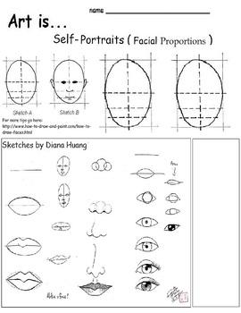 17+ Superb self portrait worksheet Useful