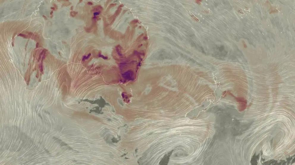 Australian bush fires cause air pollution spike across