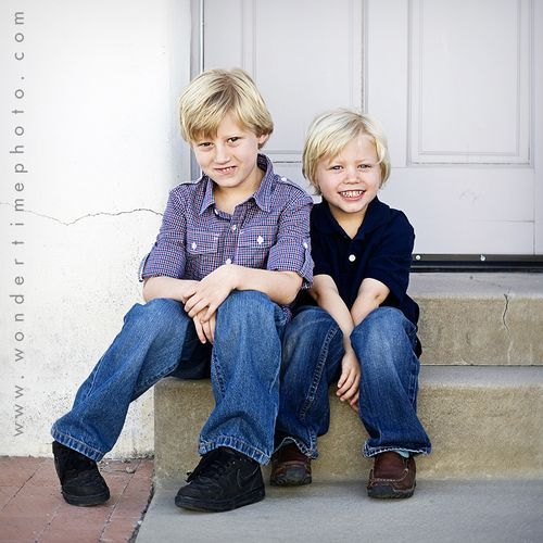 Children's urban photo session in downtown Tucson, Arizona ~ these two brothers were so much fun to work with, just like their parents! www.wondertimephoto.com
