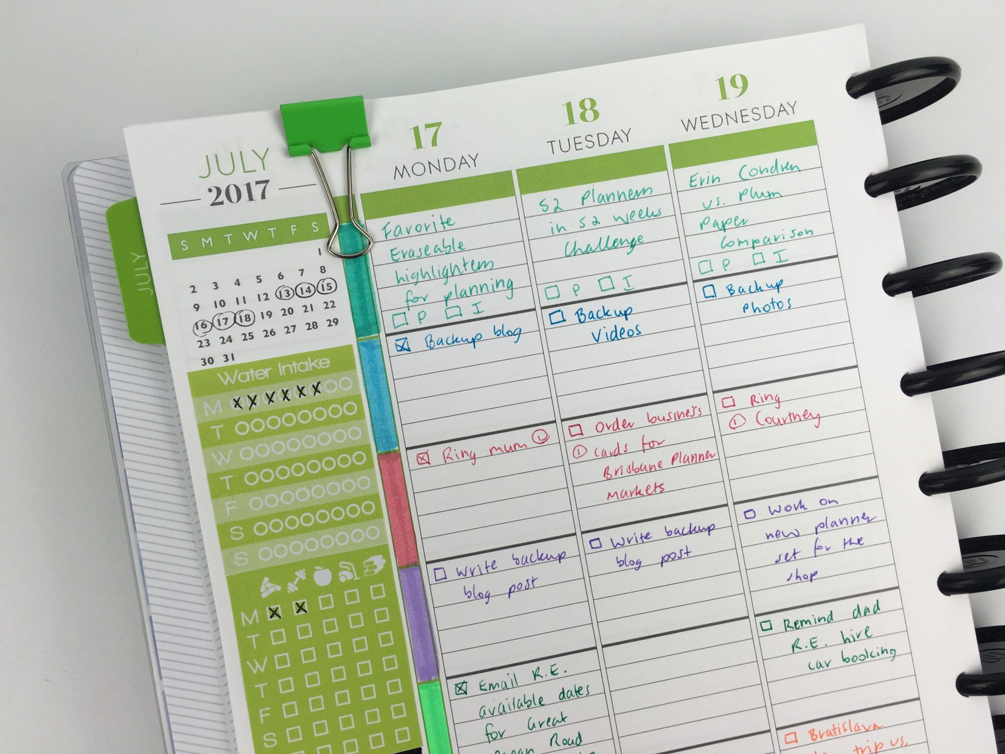 Weekly Planning Using The Plum Paper Me Planner 52 Planners In 52