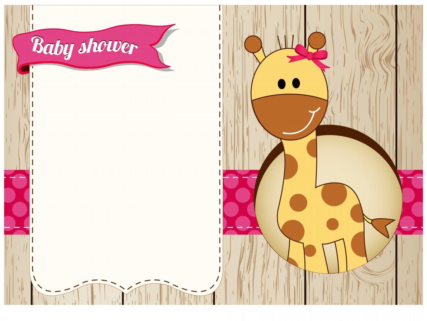Baby shower giraffe girl card | B Shower | Pinterest | Giraffe baby ...