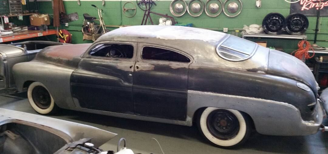 Chopped 1949 Merc Sedan Four Door. This Is One Of The Better Roof Lines I