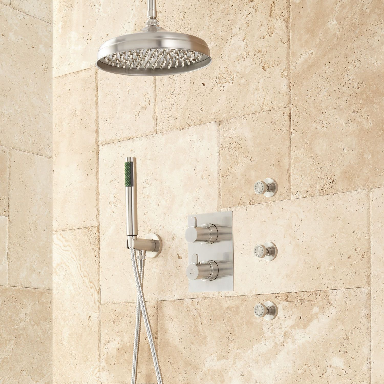 Hinson Rainfall Shower System With Body Sprays Signature
