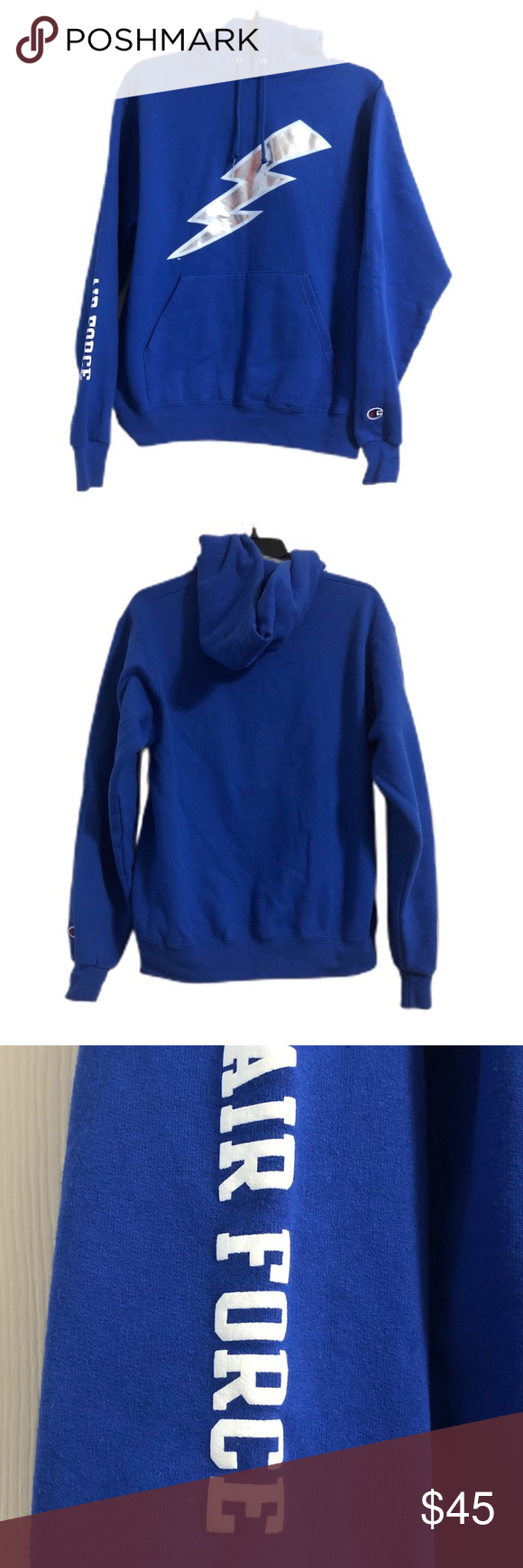 Champion Air Force Falcons Lightning Bolt Hoodie Size