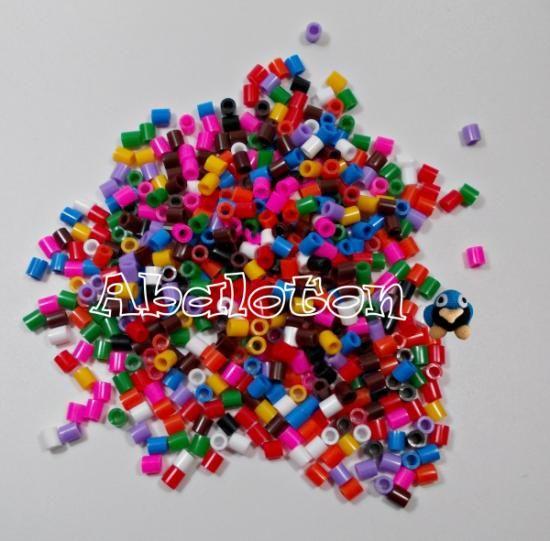 3000 hama beads.surtido varios colores abalorios