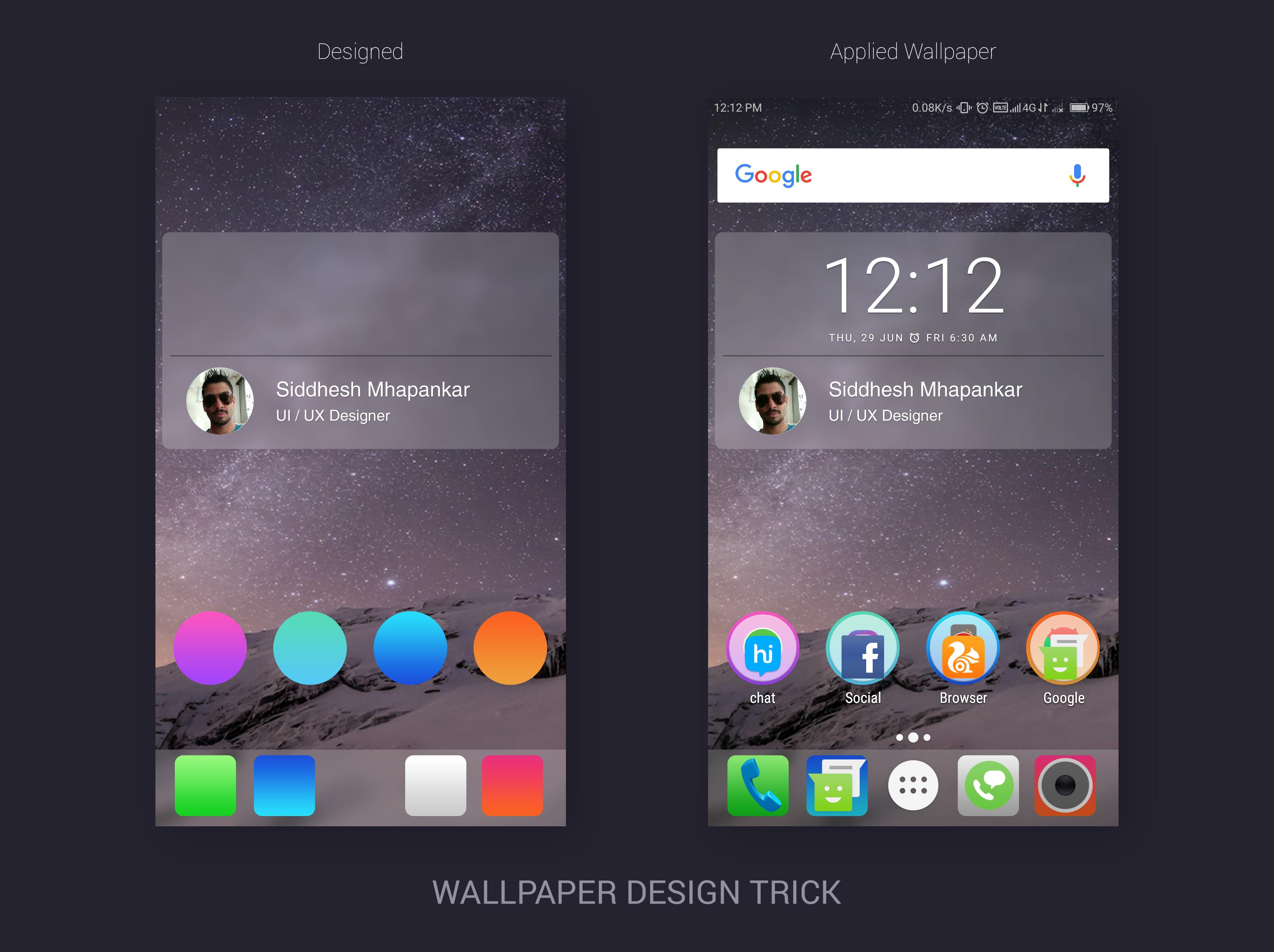 Wallpaper Design Trick For Phones