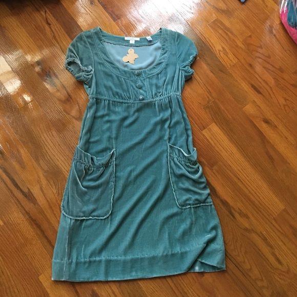 Velvet empire waist dress boutique purchase Beautiful velvet dress short sleeved never worn Original penguin Dresses