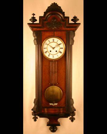 German Made Vienna Regulator Wall Clock Circa 1880 Tempus fugit