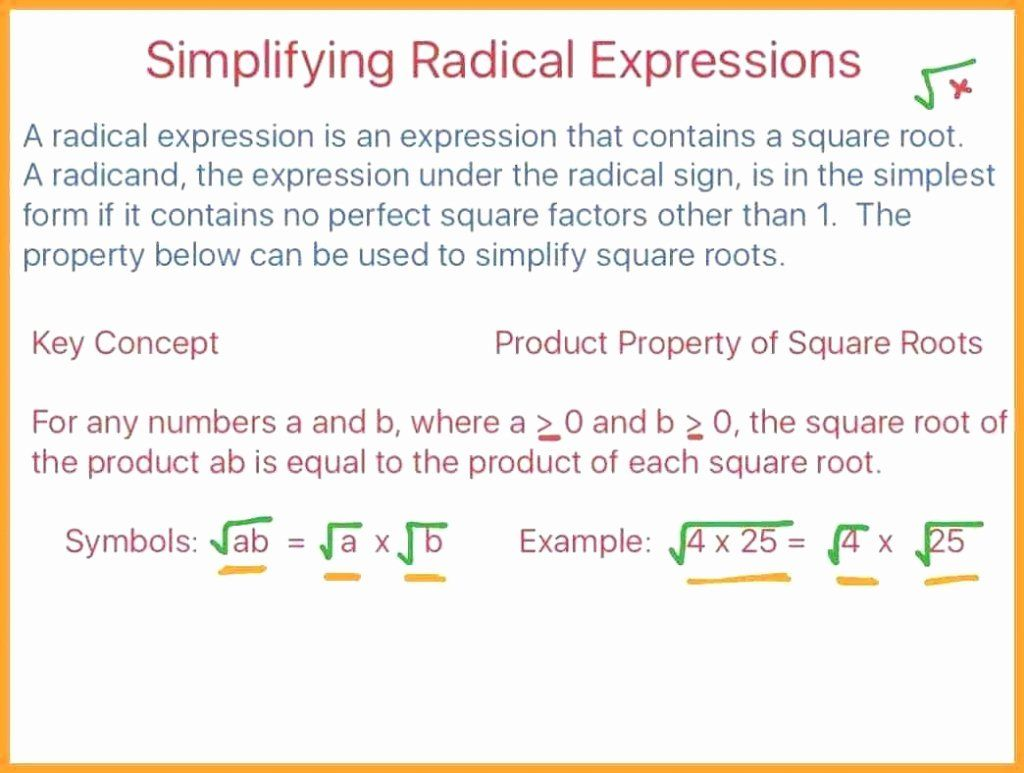 Multiply Radical Expressions Worksheet Inspirational Cool