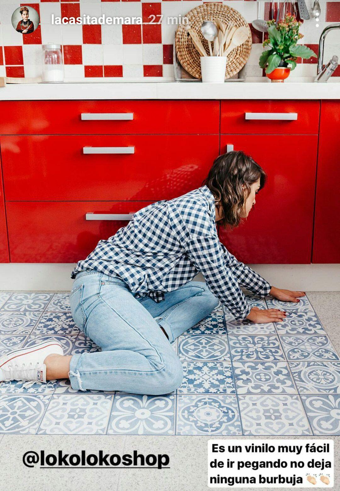 Mosaico de baldosas hidr ulicas 3 suelos de cocina - Suelo vinilo adhesivo ...