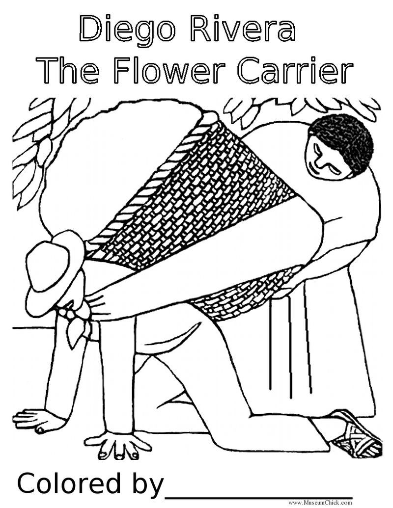 diego rivera inspired for kids | Diego Rivera The Flower Carrier ...