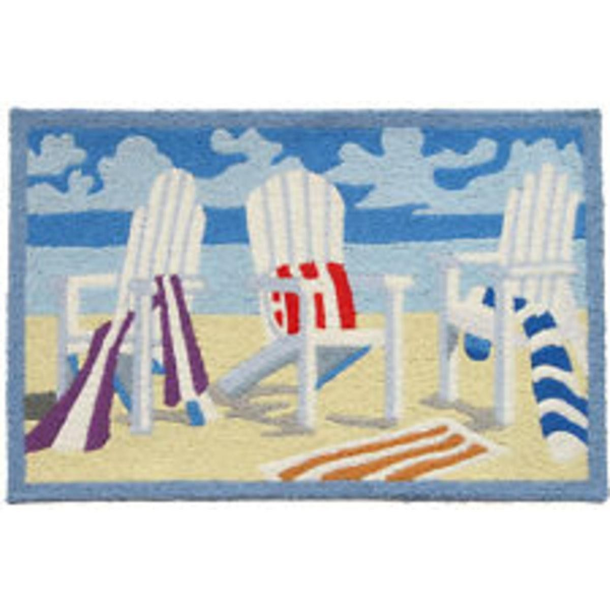 Home Comfort Jellybean Rug Adirondack Chair Embroidery Jb Pb 0003 Island Beach Gear S