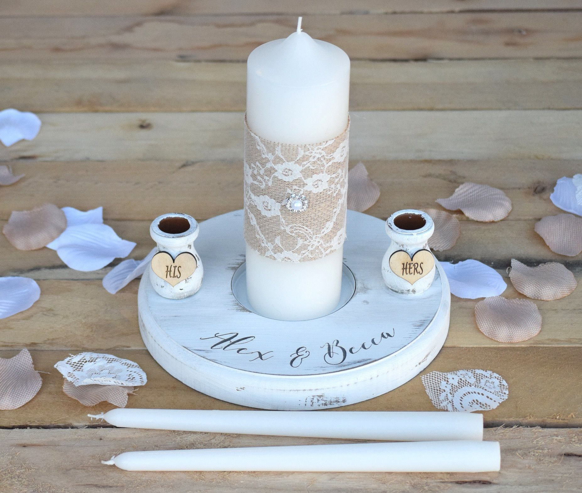 wedding unity candle set with stand in 2018 products pinterest
