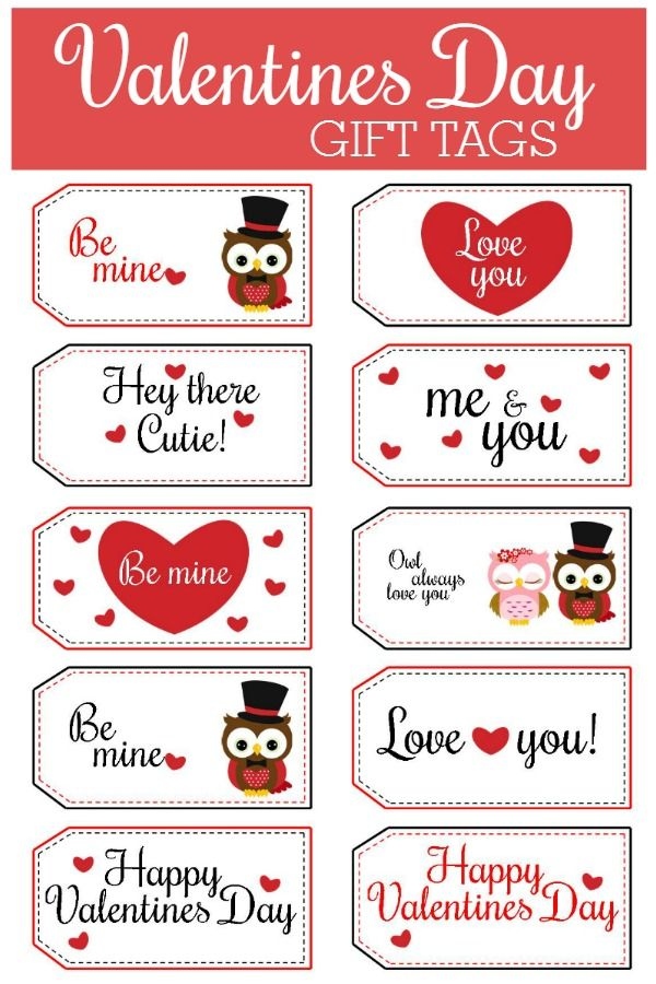 picture relating to Valentine Gift Tags Printable named Totally free Printable Valentines Working day Reward Tags Valentines