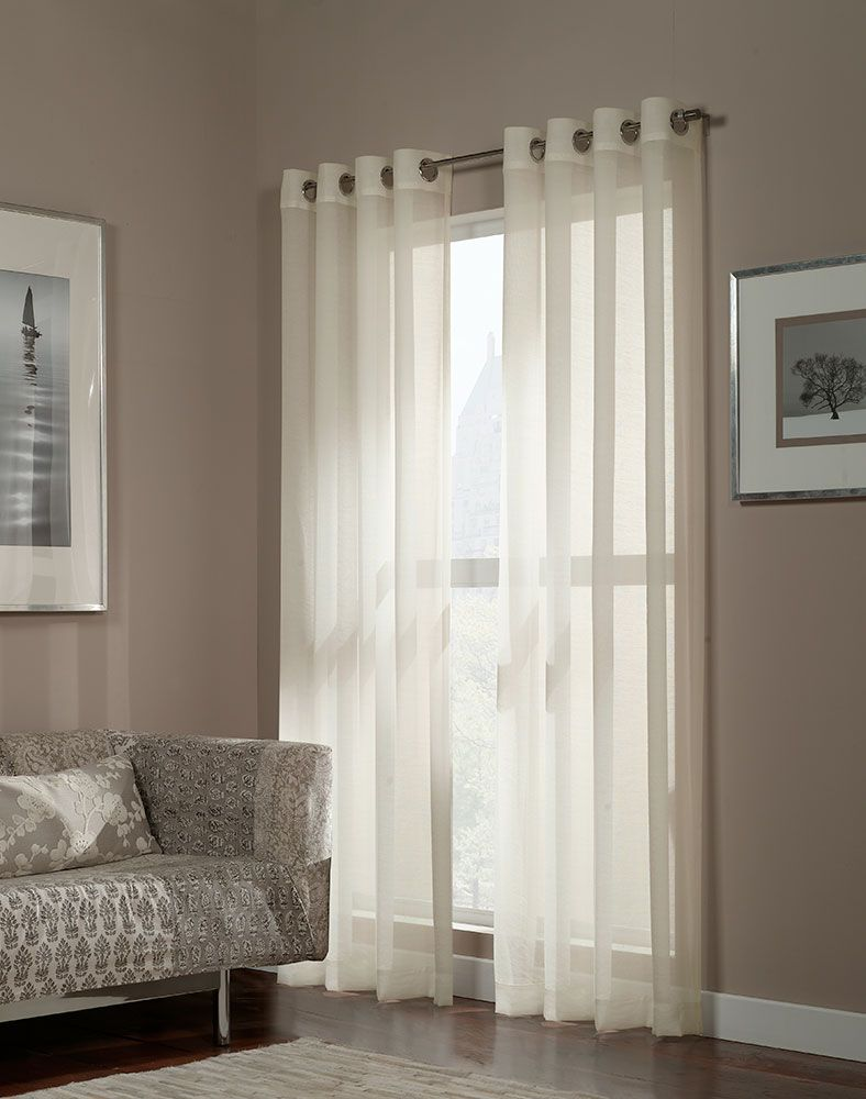 Great look for great prices hmmmm ideas are abrewing for Sheer panel curtain ideas