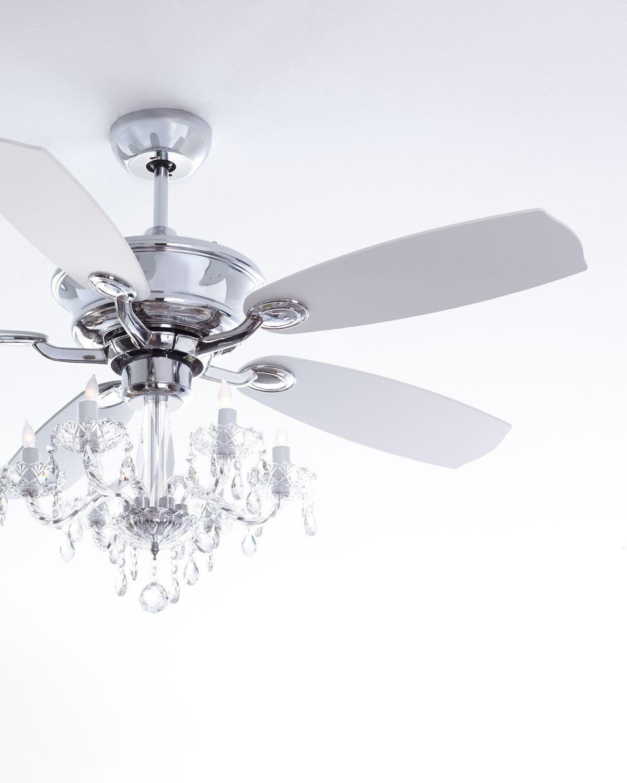 Julianne Chromefandelier 52 D Ceiling Fan Ceiling Fan Light Kit Chandelier Fan