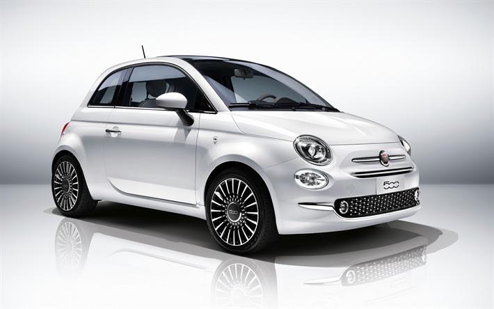 Download Wallpapers Fiat 500 4k 2018 Cars Studio Compact Cars Fiat Besthqwallpapers Com Fiat 500 Fiat Fiat Cars