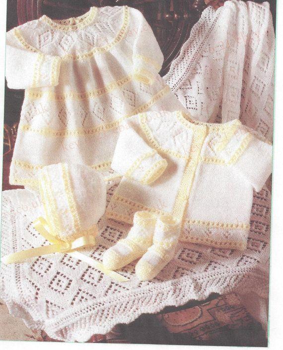 7e896f222 Knitting Pattern Heirloom Baby Infant