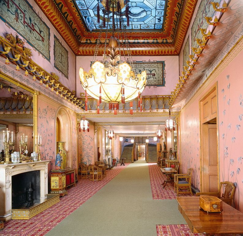 Interior Of The Royal Pavilion, Brighton, East Sussex: The