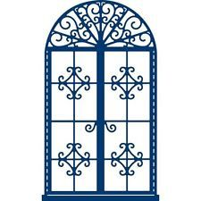 Tattered lace décoratif fenêtre 7.5 cm x 12.9 cm découpe cutter scrapbook