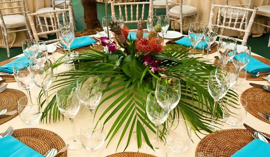 Ordinaire Tropical Flower Table Decorations Created By Apollo For A Tropical Themed  Party