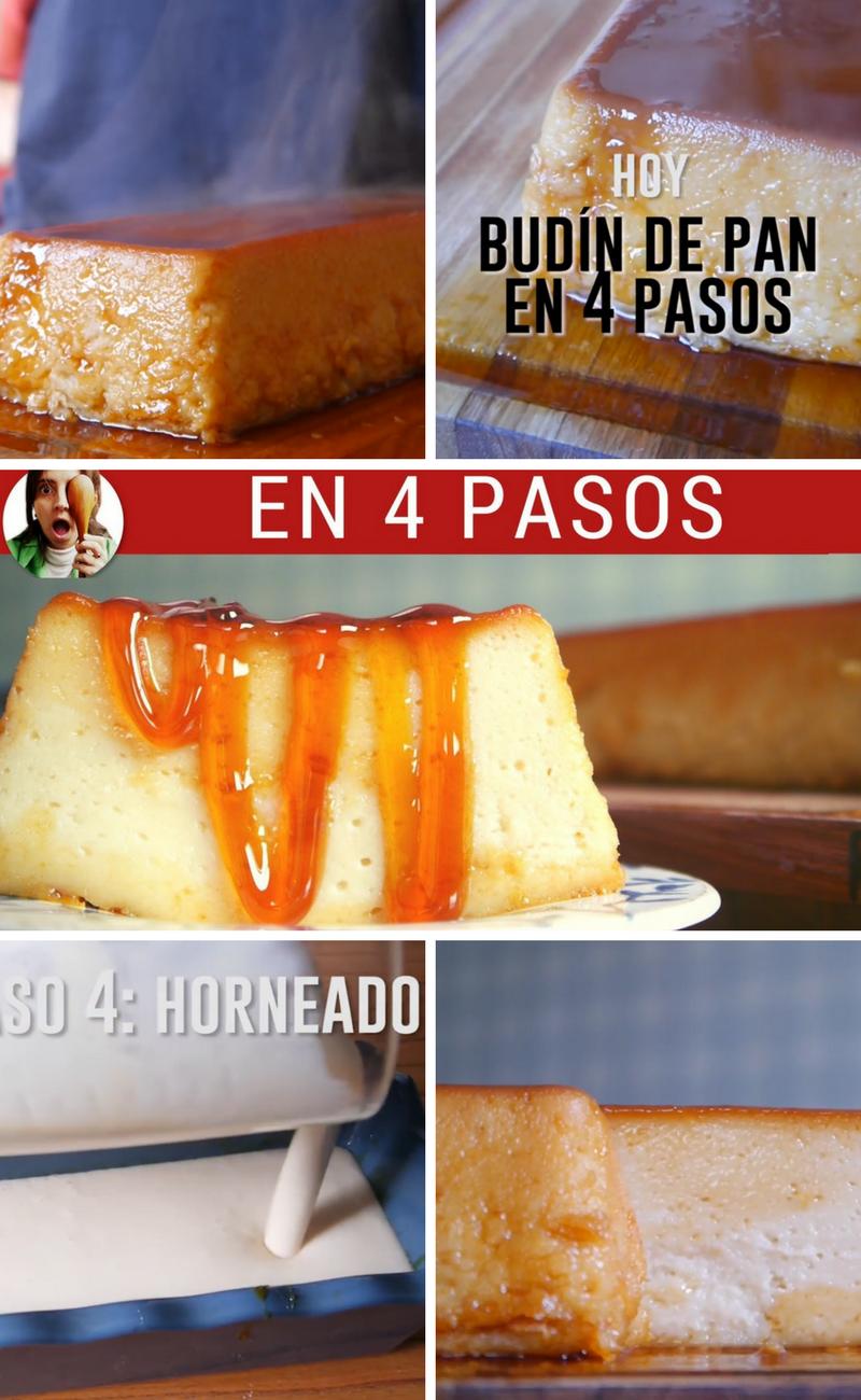 Budín De Pan Facil En 4 Pasos Este Video Budín De Pan Fácil Y El