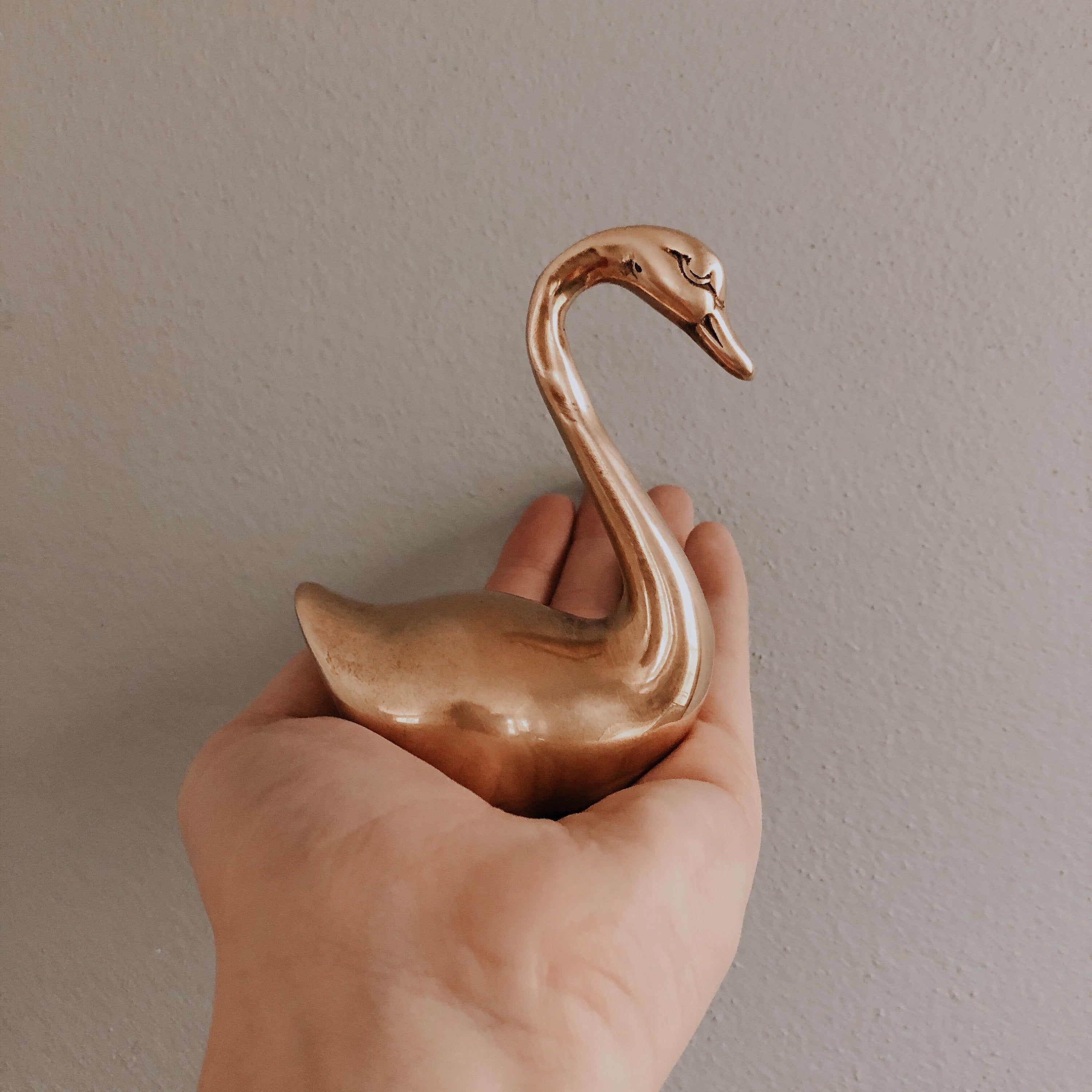 🦢 Vintage Brass Swan Figurine // SOLD BY SHOPELEANORLOUISE