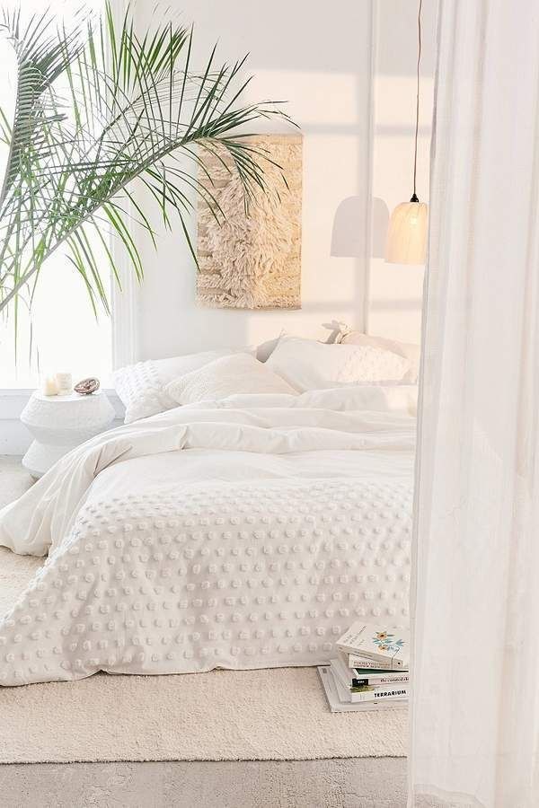 Tufted Dot Duvet Cover #bohobedroom