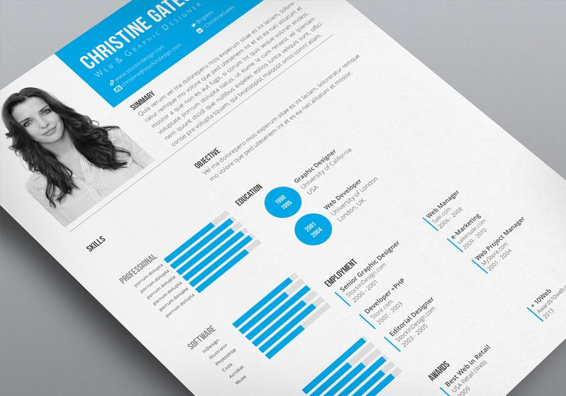 17 Best images about Resume Layouts on Pinterest Resume template - adobe indesign resume template