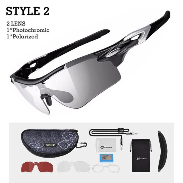 c68bca1b5756 ROCKBROS Polarized Cycling Glasses Photochromic Bike Glasses Sports Fishing  MTB Bicycle Sunglasses Goggles Eyewear Myopia Frame