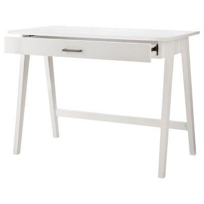 Pin By Caroline Coggins On New Home White Desks White Desk