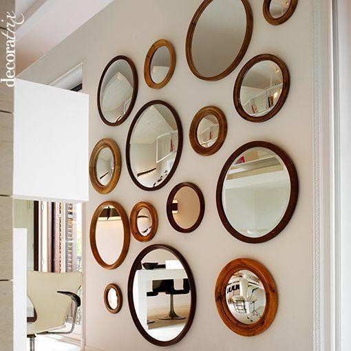 Decorar con espejos de pared espejos mirrors pinterest for Espejos redondos pequenos