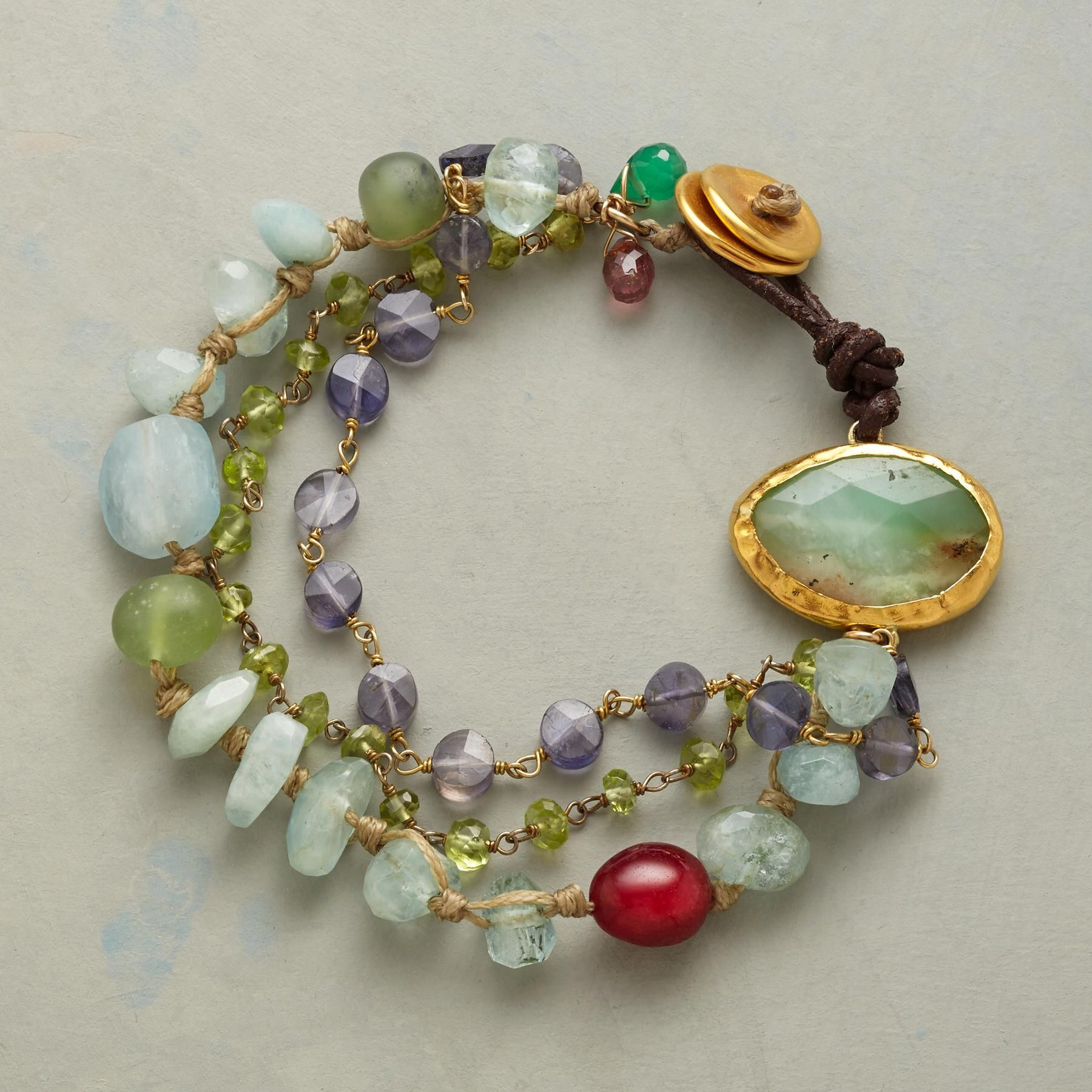 CALYPSO BRACELET Nava Zahavi lures the eye to chrysoprase