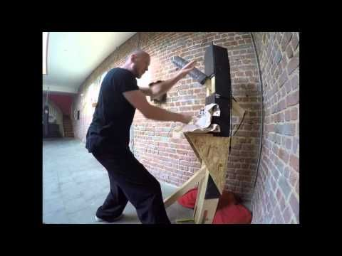 Tongbeiquan : unconventional wooden dummy - YouTube | taichi