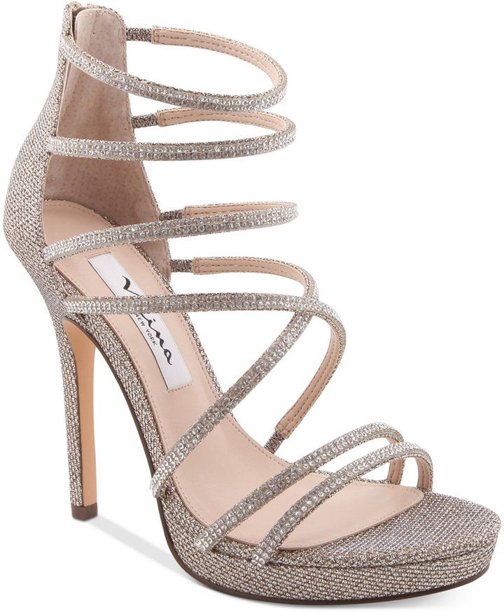 2849fd317e77 Nina Finessa Strappy Evening Sandals Women s Shoes at Macy s. Affiliate  link.