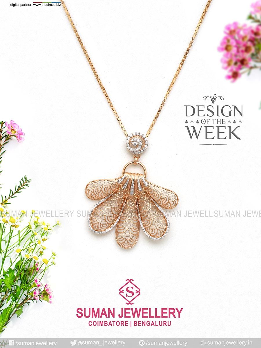 #Design of the week! Feel like #royalty in this #dramatic gold #necklace! Wear your #pure_love!!  #suman_jewellery #gold #pendant