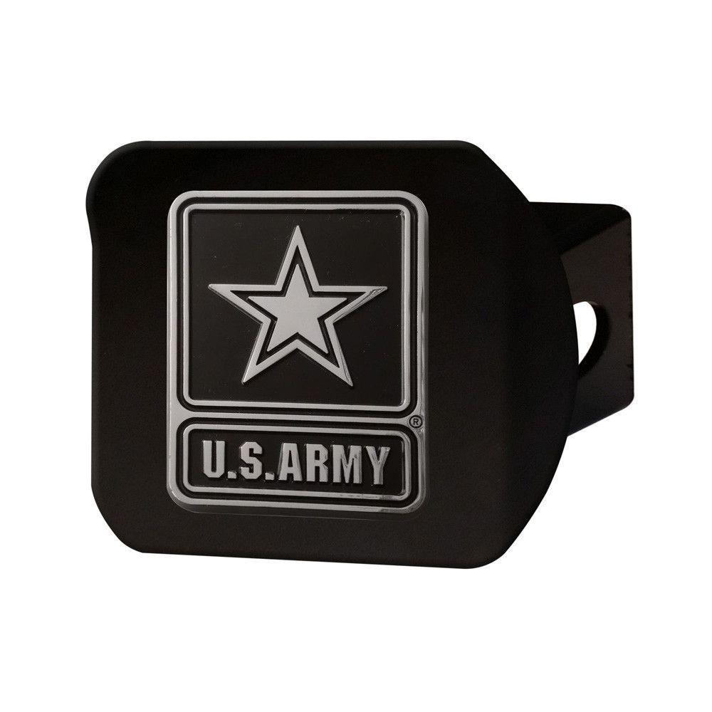 U.S. Army Black Metal Hitch Cover