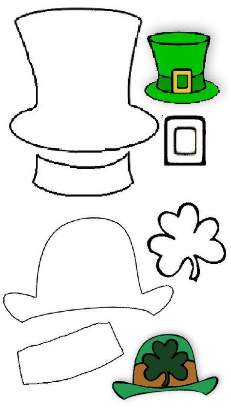 A Leprechaun Hat Can Come In Many Shapes And Sizes There Are Two Different Designs Inc St Patricks Day Cards St Patrick S Day Crafts St Patrick Day Activities