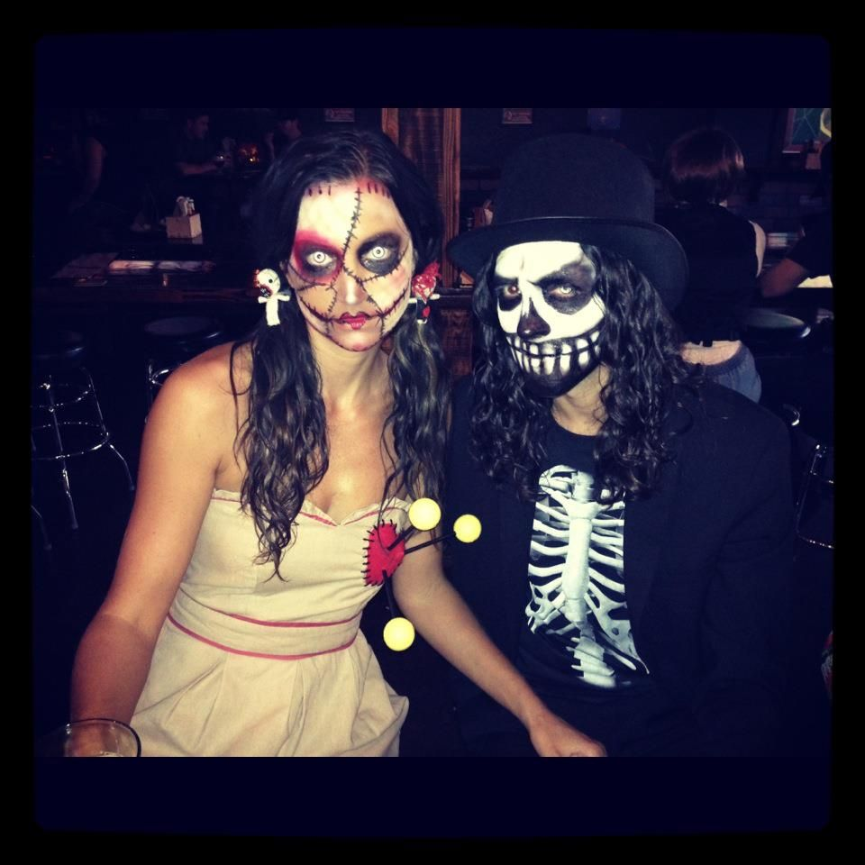 Our halloween costumes...voodoo doll and Baron Samedi