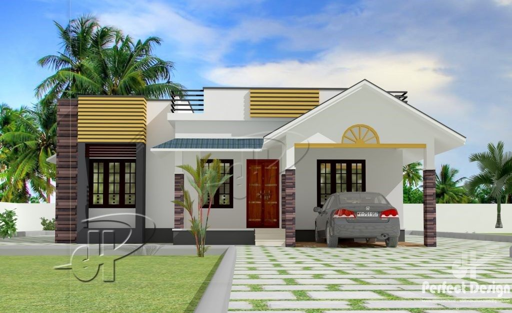 A Model Design Of A Modern Bungalow House Plan With Three Bedrooms Is Here To Show Modern Bungalow House Single Floor House Design Modern Bungalow House Design