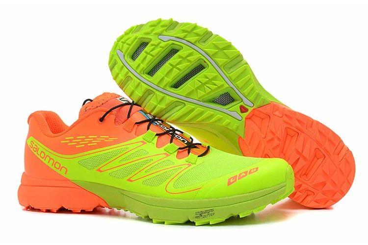 Mens Salomon S Lab Sense Ultra M Green Orange Running Shoe Free Shipping