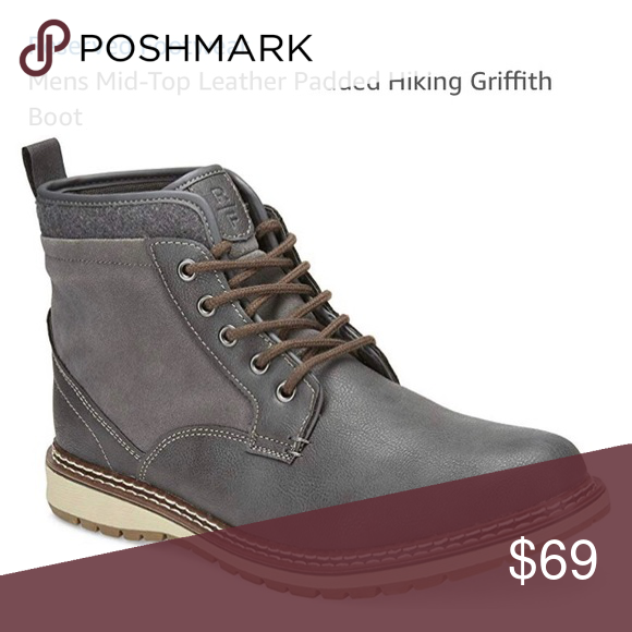 c15f073f8 Sz 11 Men's Leather Boots This combat boot means business. It's a lace-up  shoe with a rubber sole and a soft fabric ankle, which contrasts with its  ...
