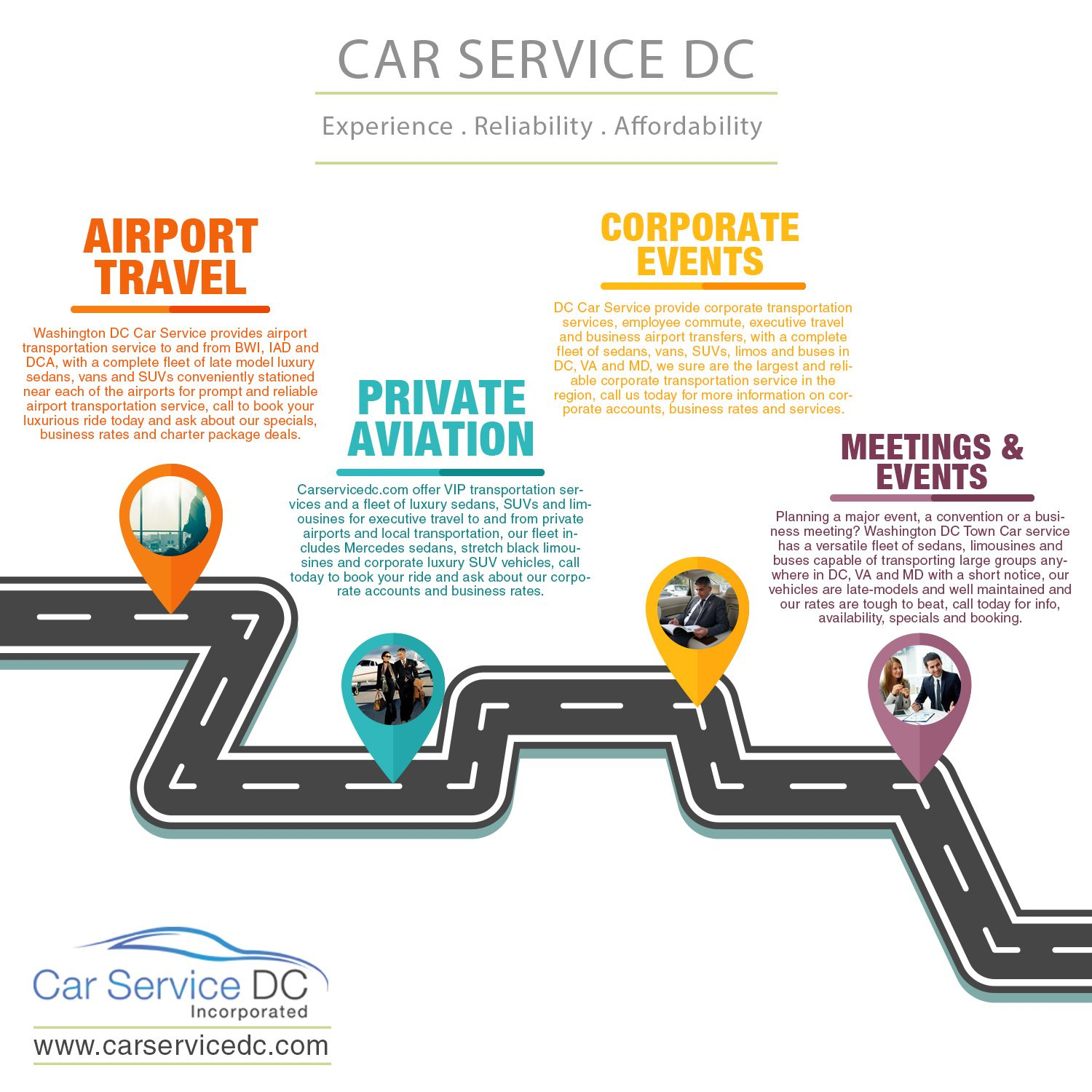 Carservicedc offer all type of limousine on rent.Our Mission is to provide quality car transportation service in Washington DC. Call now for reservation. http://carservicedc.com/