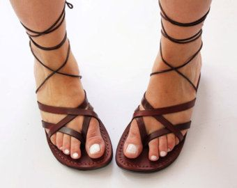 4b49bb7c9 Jesus sandals strappy model for women by TheHolylandstuff on Etsy ...