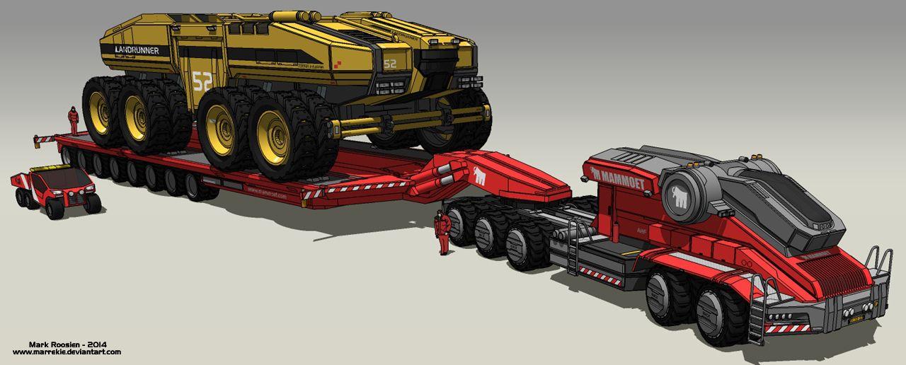 mammoet heavy transport by on deviantart mech robot pinterest. Black Bedroom Furniture Sets. Home Design Ideas