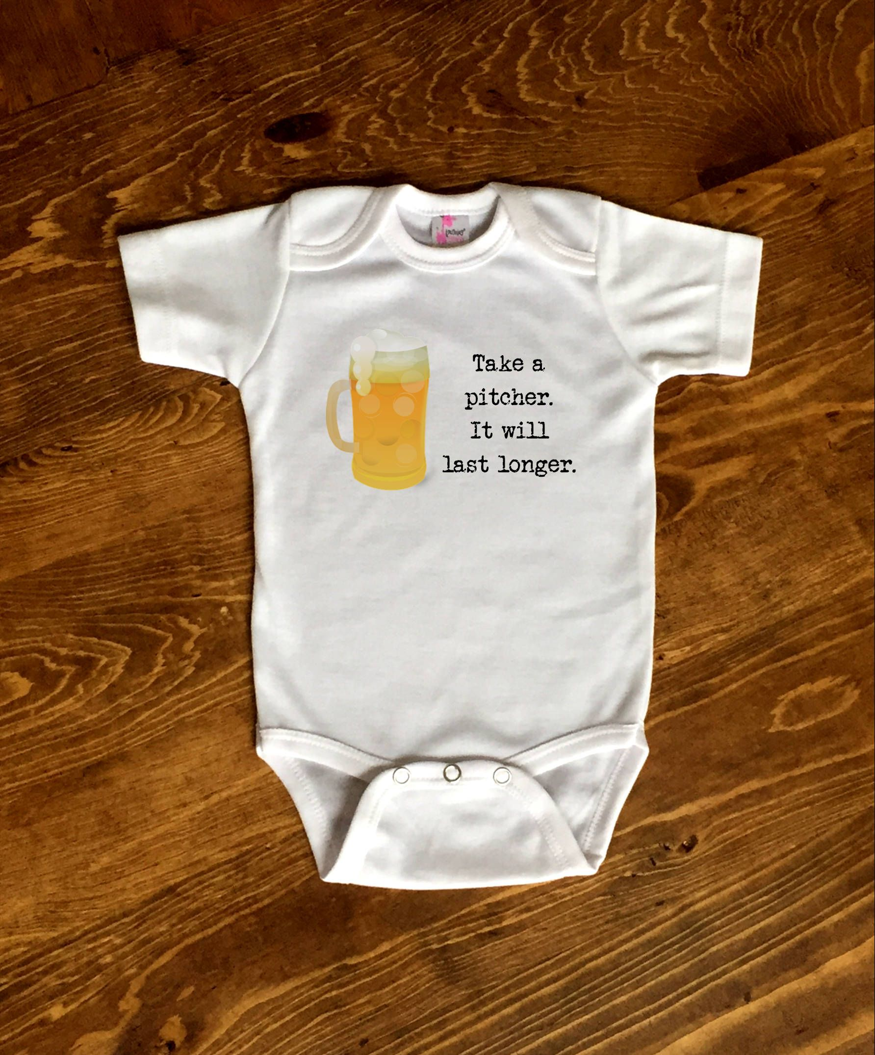 b94710a57 Beer Baby Shirt, Take A Pitcher, Beer Baby Shower, Beer Baby Gift, Daddys  Drinking Buddy, Craft Beer Baby, Drinking for Two Hoppy Beer Shirt by ...