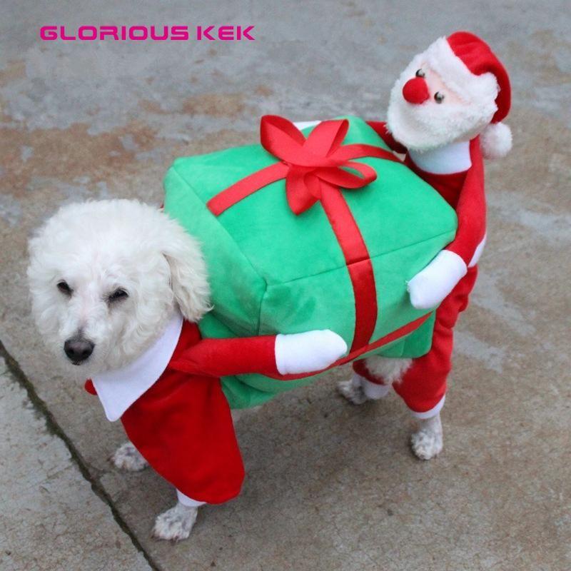 Funny Christmas Dog Costume Cutest Santa Claus Dog Clothes Dog
