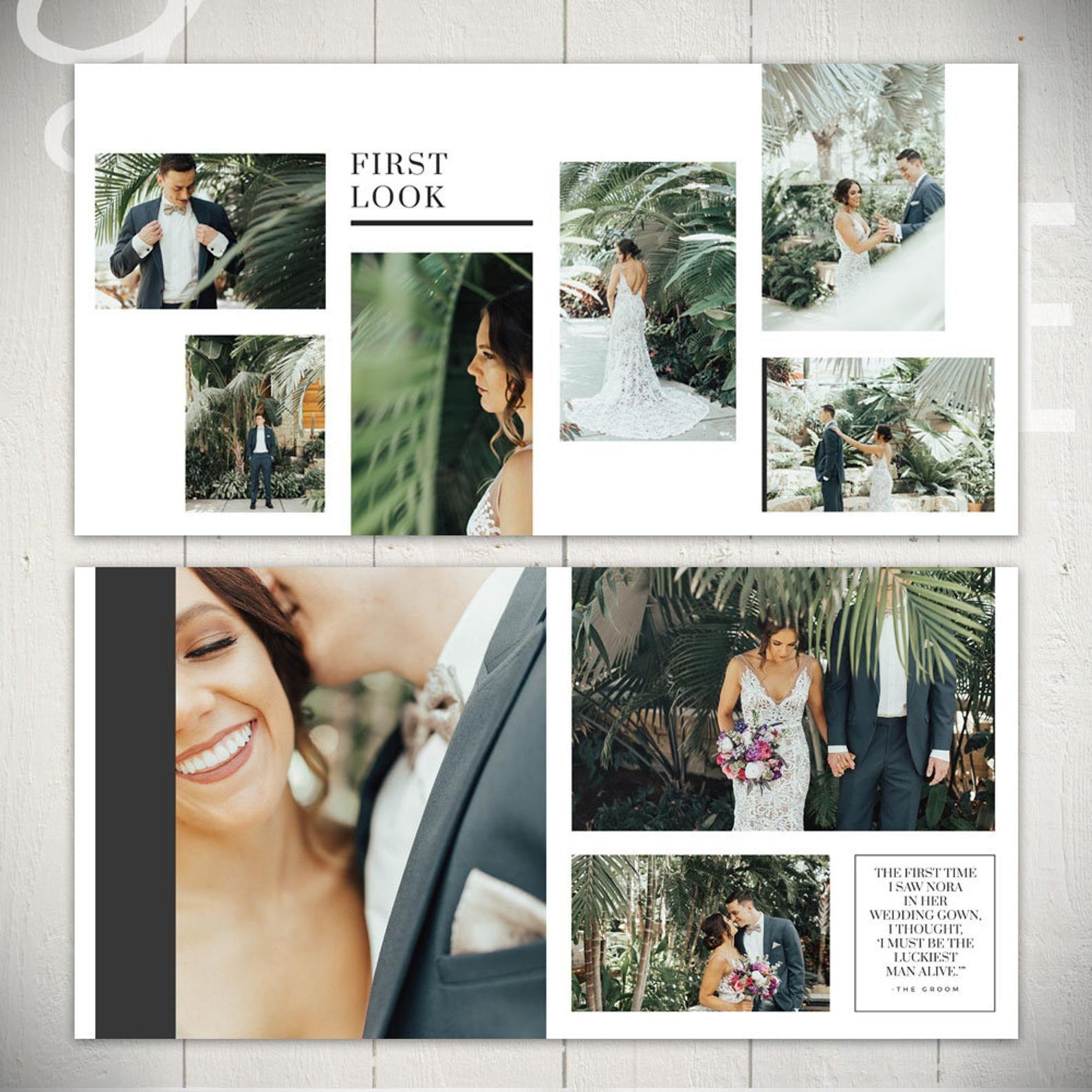 Wedding Album Template: Infinite 10x10 Wedding or | Etsy ...