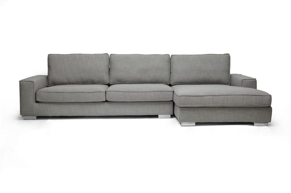 Baxton Studio Brigitte Gray Modern Sectional Sofa | Affordable Modern  Furniture In Chicago